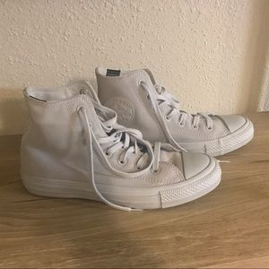 Converse Grey/White Suede Shoes